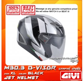 GIVI JET HELMET M30.3 D-VISOR XL GRAPHIC SPEED BLACK