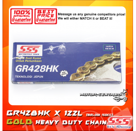 SSS HEAVY DUTY CHAIN GR428HK X 122L GOLD PLATED (INNER & OUTER LAYERS)
