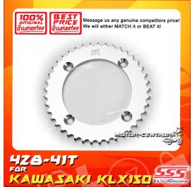 SSS REAR STEEL SPROCKET D-TRACKER150, KLX150 428-41T
