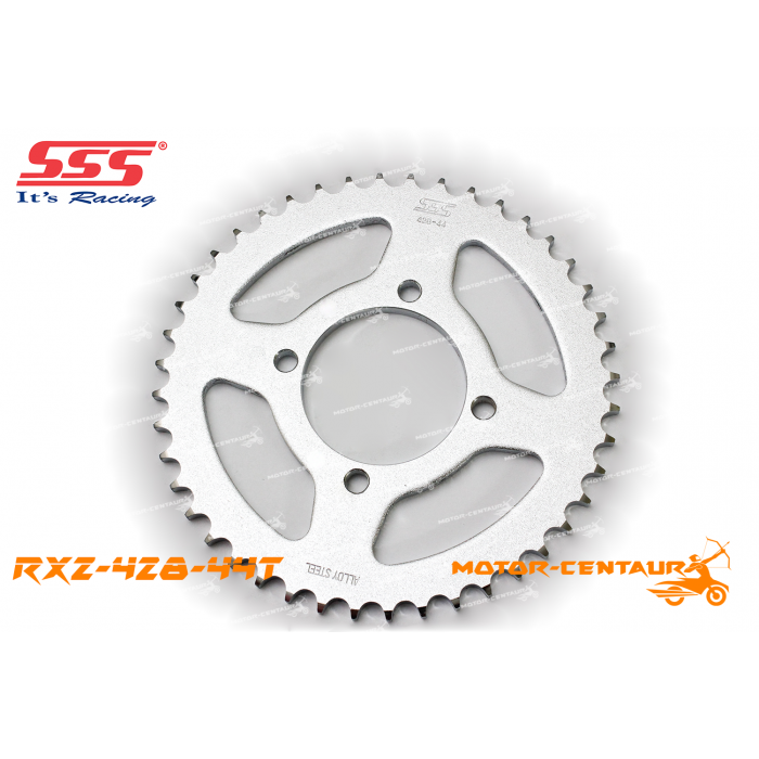 SSS REAR STEEL SPROCKET Y100, SRL110, Y125Z, RXZ, LC135, DV110, EVOZ