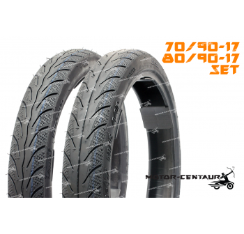 TMAX TUBELESS TYRES TM818 70/90-17 + 80/90-17