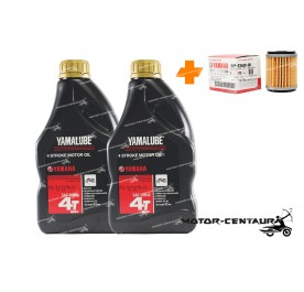 YAMAHA OIL FILTER LC135 + 2X YAMALUBE 4T ENGINE LUBRICANT SAE20W40 [0.8L]