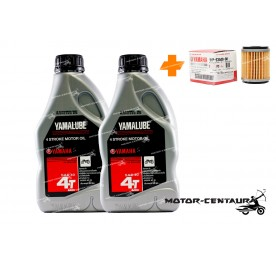 YAMAHA OIL FILTER LC135 + 2X YAMALUBE 4T ENGINE LUBRICANT SAE40 [0.8L]