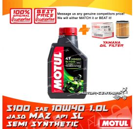 YAMAHA OIL FILTER LC135 + MOTUL 4T ENGINE LUBRICANT 5100 SAE10W40 [1L]