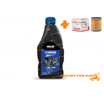 YAMAHA OIL FILTER LC135 + YAMALUBE 4T ENGINE LUBRICANT RS4GP FULL-SYNTHETIC [1.0L]