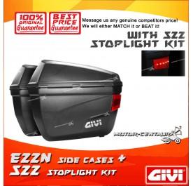 GIVI E22N SIDE CASES + S22 STOP LIGHT KIT