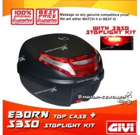 GIVI E30TN TOP CASE + S350 STOP LIGHT KIT
