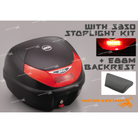 GIVI E30TN TOP CASE + S350 STOP LIGHT KIT + E88M BACKREST