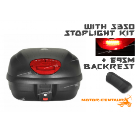 GIVI E33N TOP CASE + S350 STOP LIGHT KIT + E95M BACKREST