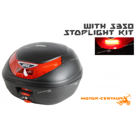 GIVI E350N TOP CASE + S350 STOP LIGHT KIT