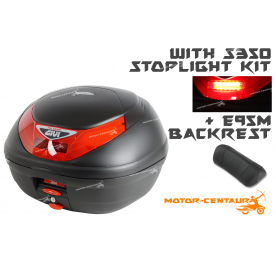 GIVI E350N TOP CASE + S350 STOP LIGHT KIT + E95M BACKREST
