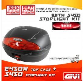 GIVI E450N TOP CASE + S450 STOP LIGHT KIT