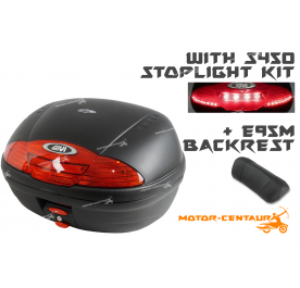 GIVI E450N TOP CASE + S450 STOP LIGHT KIT + E95M BACKREST