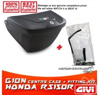 GIVI G10N CENTRE CASE + FITTING KIT FOR HONDA RS150R