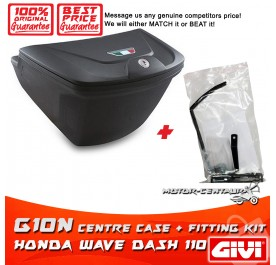 GIVI G10N CENTRE CASE + FITTING KIT FOR HONDA WAVE DASH 110 V1