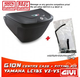 GIVI G10N CENTRE CASE + FITTING KIT FOR YAMAHA Y135LC ES LC135 V2-V6
