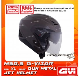 GIVI JET HELMET M30.3 D-VISOR XL GUN METAL