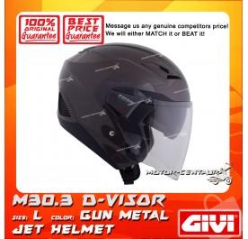 GIVI JET HELMET M30.3 D-VISOR L GUN METAL
