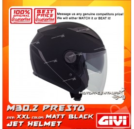 GIVI JET HELMET M30.2 PRESTO XXL MATT BLACK