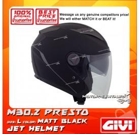 GIVI JET HELMET M30.2 PRESTO L MATT BLACK