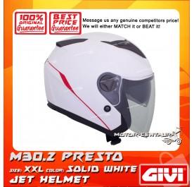 GIVI JET HELMET M30.2 PRESTO XXL SOLID WHITE