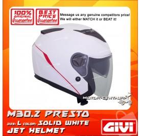 GIVI JET HELMET M30.2 PRESTO L SOLID WHITE