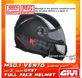 GIVI FULL FACE HELMET M50.1 VENTO S GRAPHIC DART GREY
