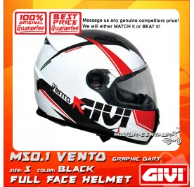 GIVI FULL FACE HELMET M50.1 VENTO S GRAPHIC DART BLACK