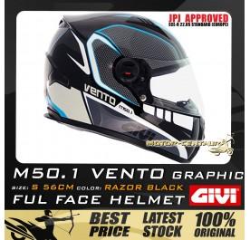 GIVI FULL FACE HELMET M50.1 VENTO S GRAPHIC RAZOR BLACK