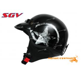 SGV HELMET WIRA STAR METALLIC BLACK
