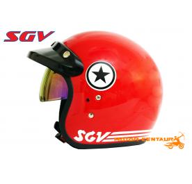 SGV HELMET STAR RED