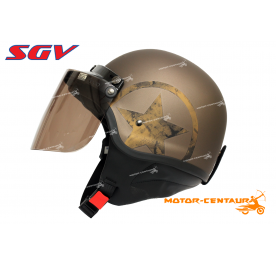 SGV WIRA STAR HELMET  MATT BROWN + BOGO TINTED VISOR