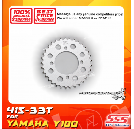 SSS REAR STEEL SPROCKET Y100, SRL110, Y125Z, RXZ, LC135, DV110, EVOZ 415-33T