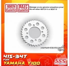 SSS REAR STEEL SPROCKET Y100, SRL110, Y125Z, RXZ, LC135, DV110, EVOZ 415-34T