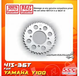 SSS REAR STEEL SPROCKET Y100, SRL110, Y125Z, RXZ, LC135, DV110, EVOZ 415-36T