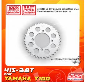 SSS REAR STEEL SPROCKET Y100, SRL110, Y125Z, RXZ, LC135, DV110, EVOZ 415-38T