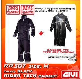 GIVI RRS07 RAINCOAT M + RAINBOW PVC FREE SIZE RAINCOAT