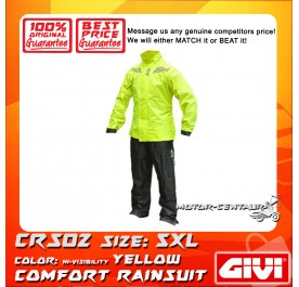 GIVI COMFORT RAINSUIT CRS02 5XL HIGH VISIBILITY YELLOW