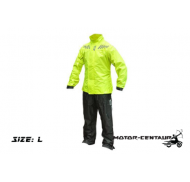 GIVI COMFORT RAINSUIT CRS02 L HIGH VISIBILITY YELLOW