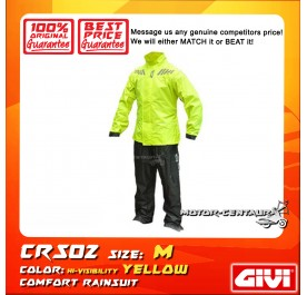GIVI COMFORT RAINSUIT CRS02 M HIGH VISIBILITY YELLOW