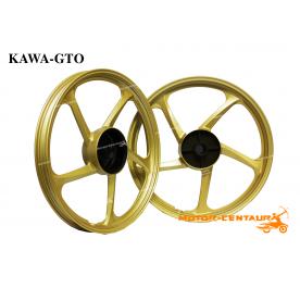 KAWA-GTO SPORT RIMS 5STAR 1.40X17(F) 1.60X17(R) EX5 GOLD