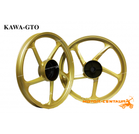 KAWA-GTO SPORT RIMS 5STAR 1.40X17(F) 1.60X17(R) WAVE 100 GOLD