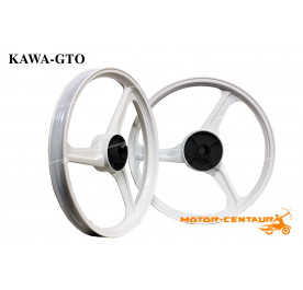 KAWA-GTO SPORT RIMS 333 1.60X17(F) 1.85X17(R) Y135LC WHITE
