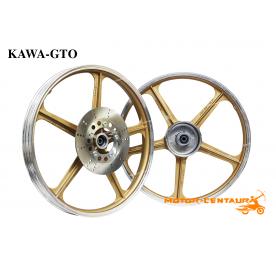KAWA-GTO SPORT RIMS AR80 1.40X18(F) 1.40X18(R) GTO GOLD