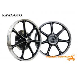 KAWA-GTO SPORT RIMS K7 1.40X18(F) 1.60X18(R) GTO BLACK