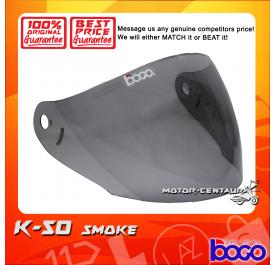 BOGO VISOR K-50 (KHI12.1) SMOKE