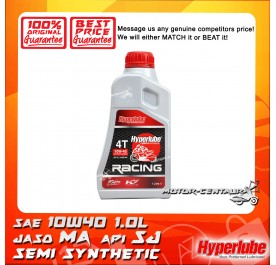 HYPERLUBE 4T SYNTHETIC BLEND ENGINE LUBRICANT RACING SAE10W-40 [1.0L]