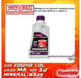 HYPERLUBE 4T ENGINE LUBRICANT POWER SAE20W-40 [1.0L]