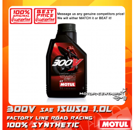 MOTUL 4T ENGINE LUBRICANT 300V FL ROAD RACING 15W50 [1.0L]