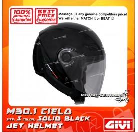 GIVI JET HELMET M30.1 CIELO S SOLID BLACK